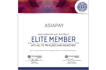 AsiaPay received Elite Member Certificate from World Confederation of Businesses