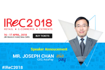 AsiaPay CEO Mr. Joseph Chan is invited to be a keynote speaker at the event of Indian Retail & e-Retail Congress 2018 in india.