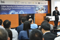 Mr. Joseph Chan CEO of AsiaPay was invited by BSI as a keynote speaker in Cyber Security in E-Payment Conference 2018 in Hong Kong.